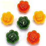 Ghasitaram Set of 6 Floating Candles (Multicolour,Folwer)