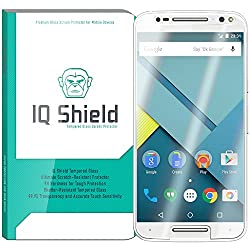 IQ Shield Tempered Glass - Motorola Moto X Pure Edition/Style Glass Screen Protector (Ballistic Glass + Warranty Replacements) - 99.9% Transparent HD Shield / 9H Hardness / Shatter-Proof + Bubble-Free