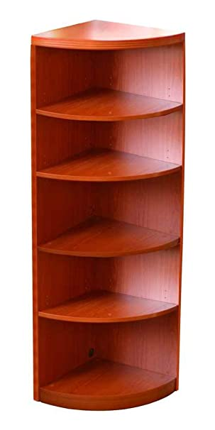 Aberdeen 5-Shelf Quarter Round Bookcase