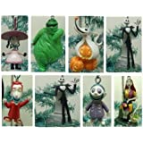 Nightmare Before Christmas 7 Piece Holiday Christmas Tree Ornament Set Featuring Jack Skellington, Sally, Zero, Shock, Lock, Barrell, and Oogie Boogie