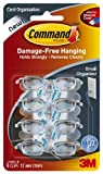 Command Small Cord Clips, Clear, 8-Clip