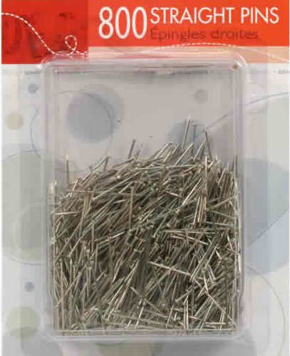 Sewing Essentials, 800 Straight Pins in a reusable Storage case