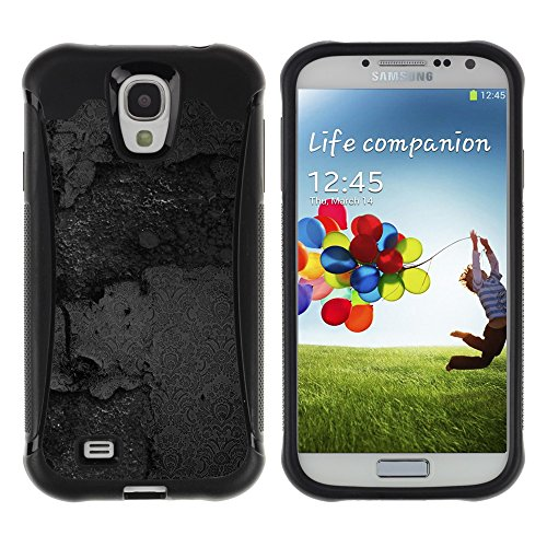 iArmor HYBRID Hülle Bumper Schutzhülle / Black Texture / Samsung Galaxy S4 I9500