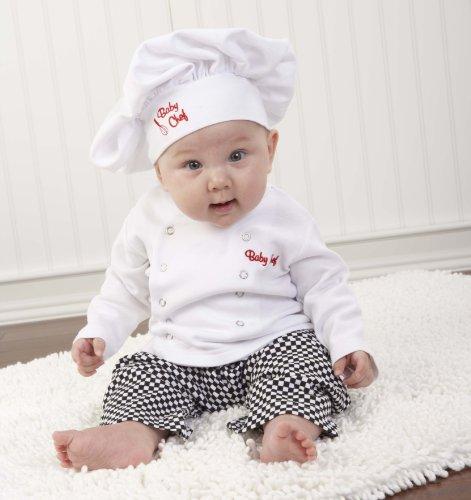Imagen de Bebé Aspen Gran Dreamzzz Baby Chef Set con caja de regalo canastilla, Blanco, 0-6 Meses