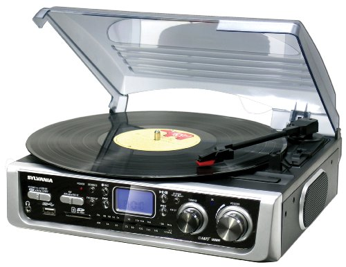 Sylvania-SRCD873-Radio-Turntable-with-USB-Silver-Discontinued-by-Manufacturer