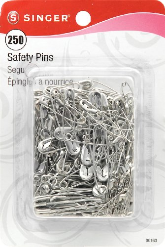 Singer Asst Safety Pins, Multisize, 250-Count
