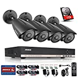 Annke 8CH 720P/1080N Surveillance DVR Recorder with 1TB Hard Drive + 4xHD 1.3MegaPixels (1280*960) Security Cameras, IP66 Weatherproof Metal Housing (Better Than 720P)