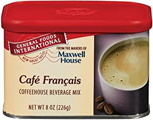 General Foods International Cafe Francais Coffee Drink Mix, 8-Ounce Tins (Pack of 6)