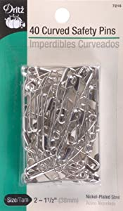Dritz(R) Curved Safety Pins - Size 2 40/Pkg