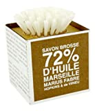 Savon De Marseille Soap And Brush 72% Oil Made In France Marius Fabre