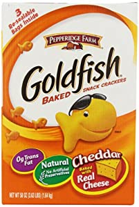 Pepperidge Farm Goldfish, Cheddar, 3 resealable bags, 58 ounces