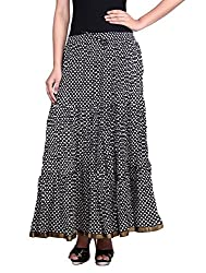 Prateek exports Beautiful Designer Black Printed Long Skirt