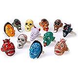Dozen Assorted Design Halloween Adjustable Monster Head Rings