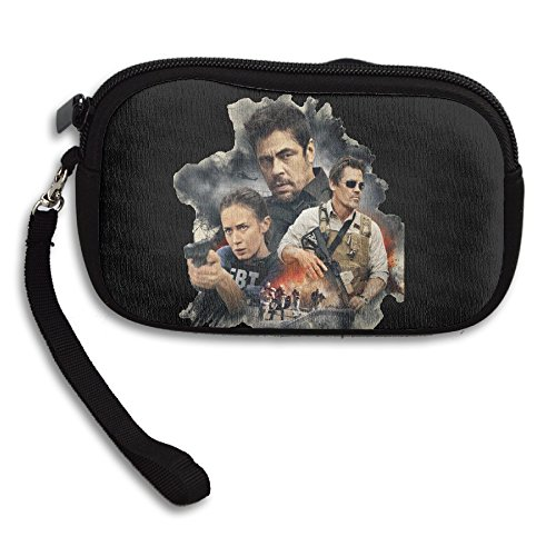 MIT5 Adult Zippered Sicario Poster Change Purse Card Case Wallet