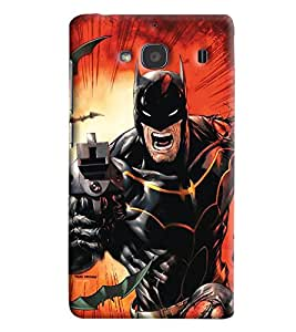 Blue Throat Batman In Action Printed Designer Back Cover For Xiaomi Redmi 2s