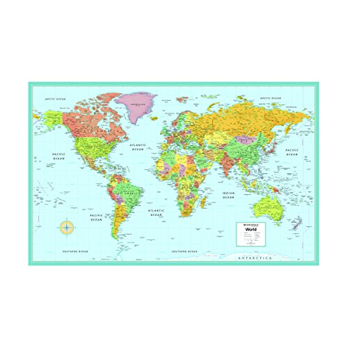 Rand McNally M Series Deluxe World Wall Map, Laminated, 50