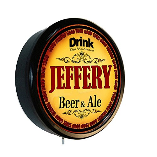 JEFFERY Beer and Ale Cerveza Lighted Wall Sign (Jeffery Beers compare prices)