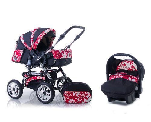wheels_4_babies presents: 3 in 1 Travelsystem Daisy Edition incl. pushchair and car seat in design