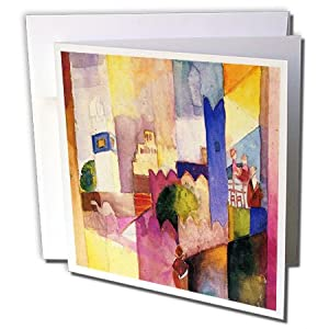 Florene Famous Art - August Macke German Expressionism Painting - 6 Greeting Cards with envelopes (gc_109559_1)