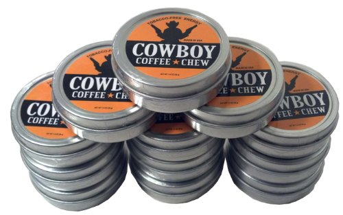Cowboy Coffee Chew Quit Chewing Tin Can Non Tobacco Nicotine Free Smokeless Alternative to Dip Snuff Snus Leaf Pouch