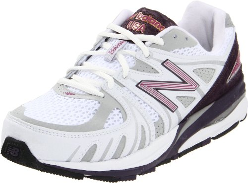 New Balance Women's W1540 Running Shoe,White/Purple,5 D US