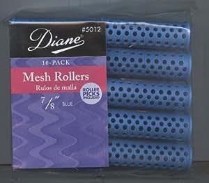 "Diane Mesh Rollers 10-Pack 7/8"" Blue #5012"