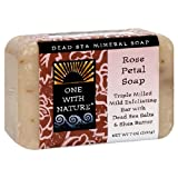 One With Nature Dead Sea Mineral Soap, Rose Petal, 7-Ounces (Pack of 6)