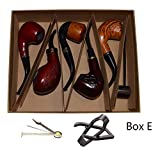 Smoking Pipe, Set of 6pcs, Smoking Pipe Gift Box, Smoking Pipe of Steel & Acrylic, Tobacco Pipe (Box E) (Tamaño: Box E)