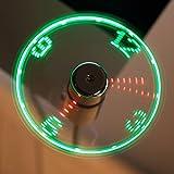 The Source USB LED Clock Fan