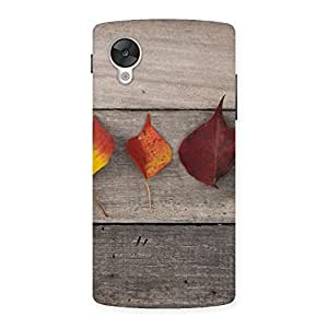 Impressive Leaves on Wood Back Case Cover for Google Nexsus 5