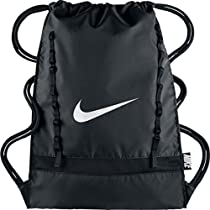 Nike Brasilia 7 Gymsack Backpack (Classic Black with Signature White Swoosh)