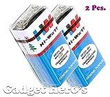 HW long life zinc Carbon Battery 2 Pcs. Hi-Watt, 9V, 6F22M, Zinc Carbon, Long Life, General Purpose, Batteriess(Set of 2)