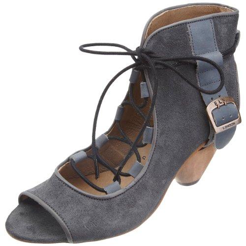 Fly London Women's Tez Dark Grey/Indigo Open Toe Heel P141865003 7 UK