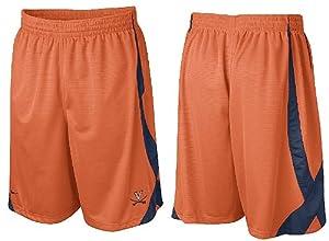 Nike Virginia Cavaliers College 10? Inseam Orange Fly High Durasheen Shorts by Nike