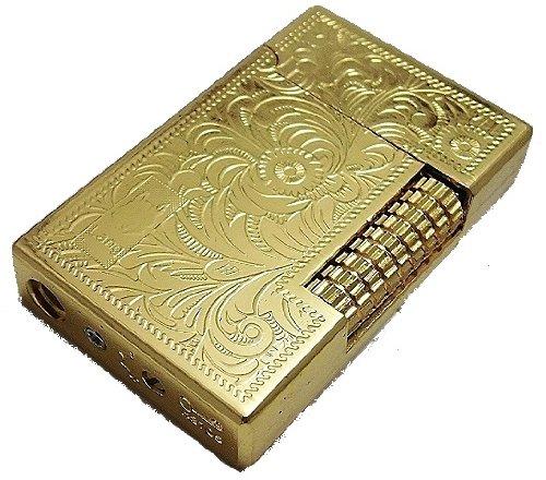 lid00 Zigarettenanzünder Arabesque Muster geformt, SEXY Design Spiegel gold Rückenlehne Flint Ausdrücken (ohne Gas) (gehen)