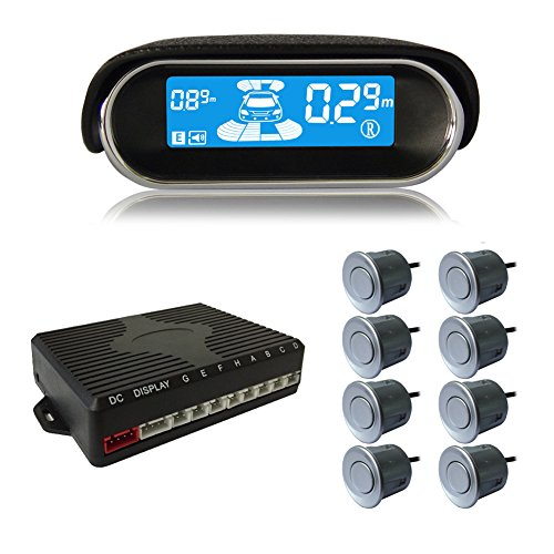 BeneGlow® Dual-core Front and Rear LCD Display Car Vehicle Reverse Backup Radar System