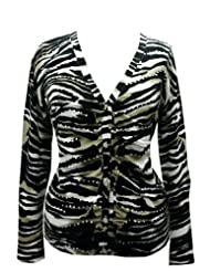 Cardigan sweater graphic accents X Large