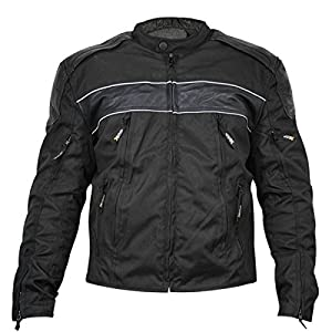 Xelement Mens Tri-Tex/Leather Jacket - Large