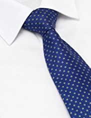 Pure Silk Square Pattern Tie