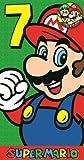 Super Mario Age 7 Badge Birthday Card
