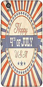 Snoogg Independence Day Greeting Card In Vintage Style Solid Snap On - Back C...