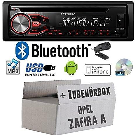 Opel Zafira A - Pioneer DEH-4800BT - CD/MP3/USB Bluetooth Autoradio - Einbauset