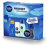 Nivea Men Reiseset Mini Size für Männer, mit Beutel, Handgepäck geeignet, 1er Pack (1 x 195 ml)