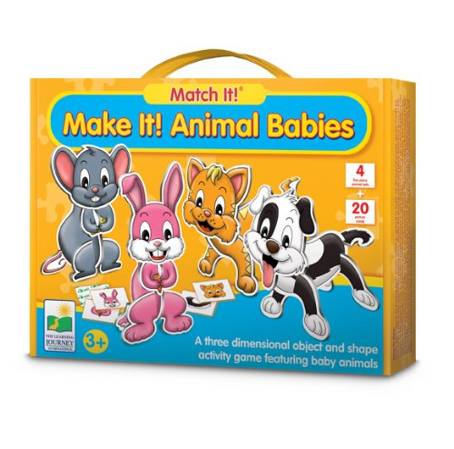 The Learning Journey Match It! Make It! Animal Babies - 1