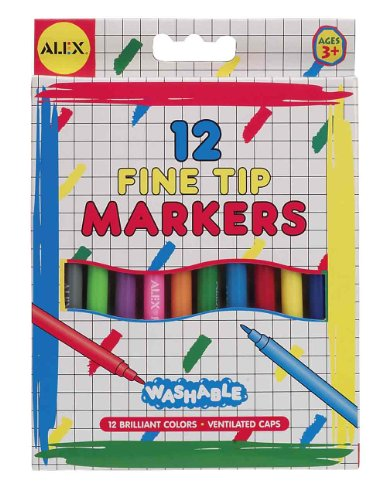 ALEX Toys Artist Studio 12 Washable Fine Tip Markers - 1