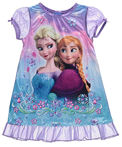 "Disney Frozen Little Girls' Toddler ""Snowfall Sisters"" Nightgown - purple/multi, 3t"