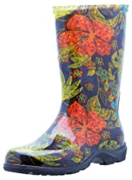 "Sloggers Women's  Rain and Garden Boot with ""All-Day-Comfort"" Insole, Midsummer Black Print – Wo's…"