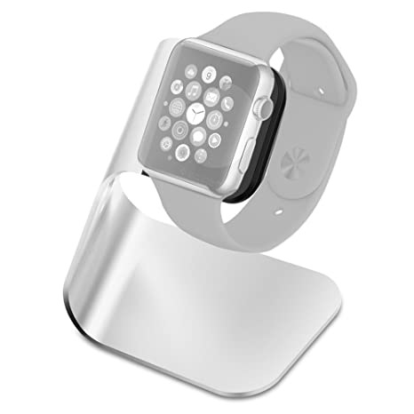 Spigen [Charging Dock] Apple Watch Charging Stand [S330] Aluminum build cradle holds Apple Watch - Comfortable viewing angle for Apple Watch (2015) - S330 (SGP11555)