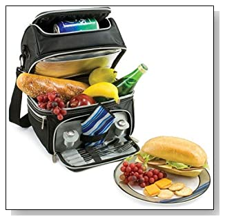 Deluxe Lunch Box with Flatware & Napkin