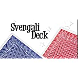 Pro Brand Bridge Size Svengali Deck - Easy Magic Card Tricks - Red or Blue